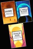 Frank Herbert Las crónicas de Dune libro 1-3: Dune, El mesías de Dune, Hijos de Dune Book Cover