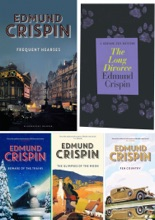 Edmund Crispin Gervase Fen Series 5 Book set: Frequent Hearses, The Long Divorce, Beware of the Trains, The Glimpses of the Moon, Fen Country.