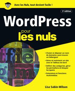 WordPress pour les Nuls, 3e édition La couverture du livre martien