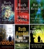 Ruth Rendell Inspector Wexford Series Collection 6 Books Set IV: Road Rage, Harm Done, The Babes In The Wood, End In Tears, Not In The Flesh, The Monster In The Box.
