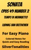 Sonata Opus 49 Number 2 Tempo Di Menuetto Easy Piano Sheet Music