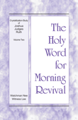 The Holy Word for Morning Revival - Crystallization-study of Joshua, Judges, Ruth, Volume 2 Book Cover