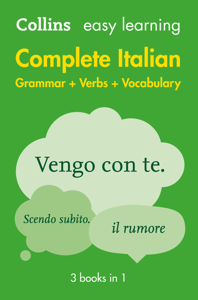 Easy Learning Italian Complete Grammar, Verbs and Vocabulary (3 Books in 1) (Collins Easy Learning Italian) Libro Cover
