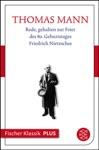 Rede Gehalten Zur Feier Des 80 Geburtstages Friedrich Nietzsches Am 15 Oktober 1924