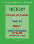 History -  50 States and Capitals