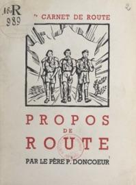 15E CARNET DE ROUTE, PROPOS DE ROUTE