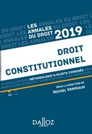 Annales Droit Constitutionnel 2019 M Thodologie Sujets Corrig S