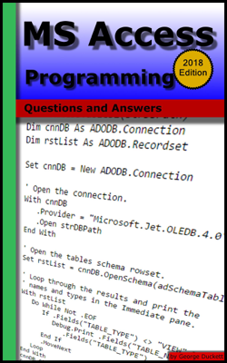 MS Access Programming: Questions and Answers - George Duckett book