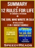 Summary of 12 Rules for Life: An Antidote to Chaos by Jordan B. Peterson + Summary of The Girl Who Wrote in Silk by Kelli Estes 2-in-1 Boxset Bundle
