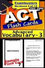 ACT Test Prep Advanced Vocabulary Review--Exambusters Flash Cards--Workbook 3 of 13