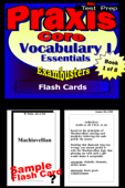 PRAXIS Core Test Prep Essential Vocabulary 1 Review--Exambusters Flash Cards--Workbook 1 of 8