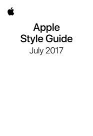 Apple Style Guide book