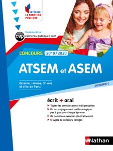concours ATSEM et ASEM - catégorie C - Intégrer la fonction publique - 2019/2020 La couverture du livre martien