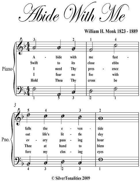 Abide With Me Easy Piano Sheet Music By William H Monk On Apple Books