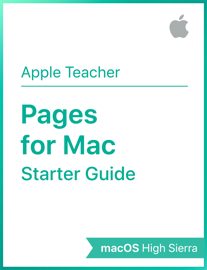 Pages for Mac Starter Guide macOS High Sierra