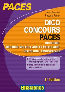Dico Concours PACES - 2e ed. La couverture du livre martien