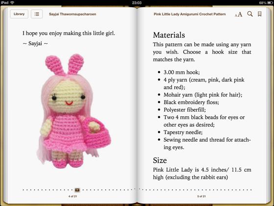 Crochet Doll / Amigurumi / Stuffed Toy / Pink Japanese Kimono Girl ... | 420x560