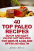 Jenny Allan - 40 Top Paleo Recipes: Quick and Easy Paleo Diet Recipes For Weight Loss artwork