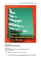 Wald Kinder Geburtstag Im Winter By Christa Baumann On Apple Books