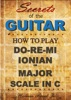 How To Play Do-Re-Mi, The Ionian Or Major Scale In C: Secrets Of The Guitar