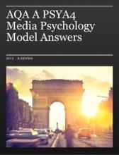 AQA A Psya4 Media Psychology Model Answers
