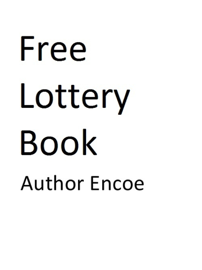 Free Lottery Book book