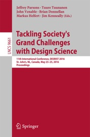 Tackling Society S Grand Challenges With Design Science