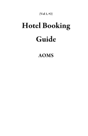 Hotel Booking Guide book