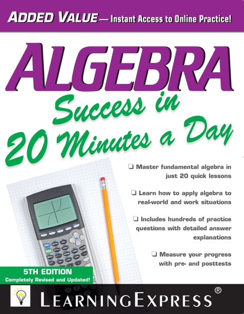 Algebra Success In 20 Minutes A Day By Learningexpress Llc On