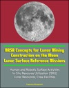 NASA Concepts For Lunar Mining Construction On The Moon Lunar Surface Reference Missions Human And Robotic Surface Activities In-Situ Resource Utilization ISRU Lunar Resources Crew Facilities