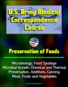 US Army Medical Correspondence Course Preservation Of Foods Microbiology Food Spoilage Microbial Growth Chemical And Thermal Preservation Additives Canning Meat Fruits And Vegetables
