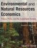 Environmental and Natural Resources Economics
