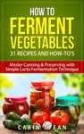 How To Ferment Vegetables Master Canning  Preserving With Simple Lacto Fermentation Technique For Beginners