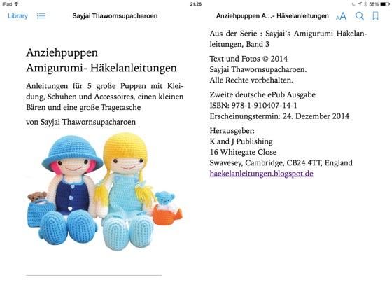 eBook: Hab-Mich-Lieb Puppen 2 Amigurumi Häkelanleitungen von Sayjai  Thawornsupacharoen | ISBN 978-1-910407-44-8 | Sofort-Download kaufen -  Lehmanns.de | 420x560