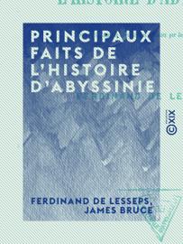 Principaux faits de l'histoire d'Abyssinie