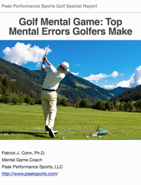 Golf Mental Game: Top Mental Errors Golfers Make book