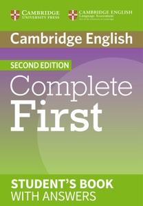 Complete First Second edition Student's Book with answers Book Cover