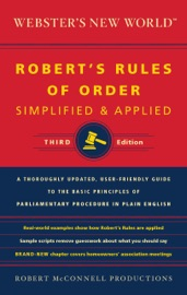 Webster S New World Robert S Rules Of Order Simplified And Applied Third Edition
