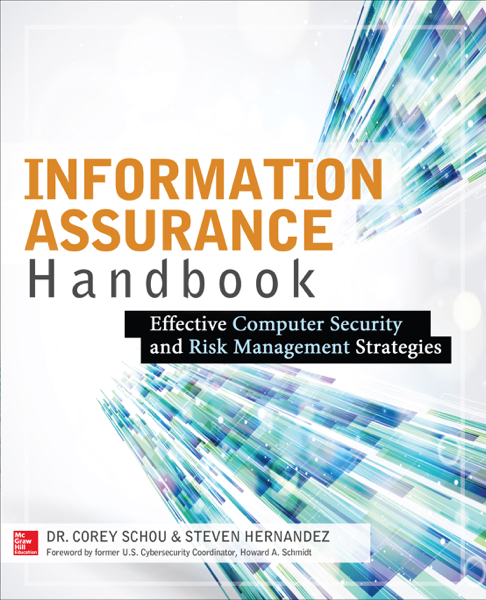 Information Assurance Handbook: Effective Computer Security and Risk Management Strategies