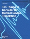Ten Things To Consider For Medical Device Translation
