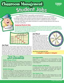Classroom Management: Student Jobs SmartCard