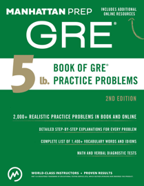 5 lb. Book of GRE Practice Problems book
