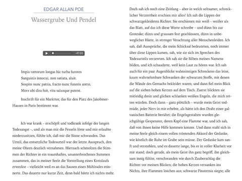 Wassergrube Und Pendel Hörbuch By Edgar Allan Poe On Apple Books