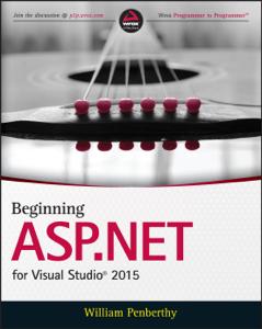 Beginning ASP.NET for Visual Studio 2015 Copertina del libro