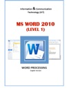 Word Processing Ms Word Level 1