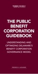 The Public Benefit Corporation Guidebook