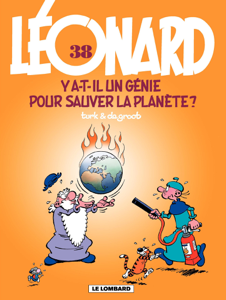 Léonard - Tome 38 - Y a-t-il un génie pour sauver la planète ? La couverture du livre martien