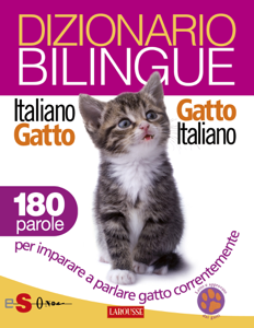 Dizionario bilingue Italiano-gatto Gatto-italiano Copertina del libro
