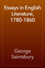 Essays In English Literature  By George Saintsbury On  Essays In English Literature