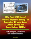2014 Final NTSB Aircraft Incident Report On Boeing 787 Dreamliner Airplane Yuasa Lithium Battery Fire Japan Airlines JA829J Tests Analysis Conclusions And Recommendations